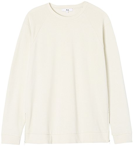 FIND Herren Oversized-Sweatshirt mit Reißverschluss Elfenbein (Stone)