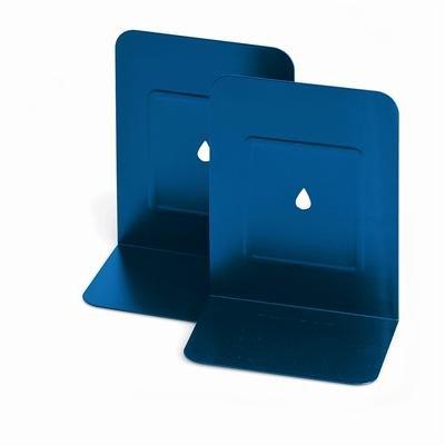 Lebez Art.088 Paire de serre-livres en métal Bleu
