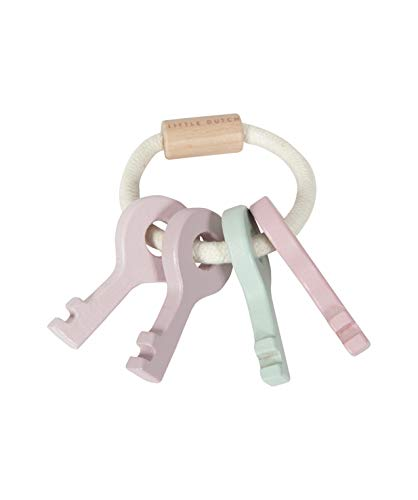 Tiamo Little Dutch Baby Schlüssel Schlüsselbund aus Holz rosa