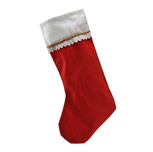 Unimasa calza befana tessuto rossa cm.23xh45