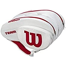 Wilson WRZ608000 Paletero de Pádel, Unisex Adulto, White/Red, Talla Única