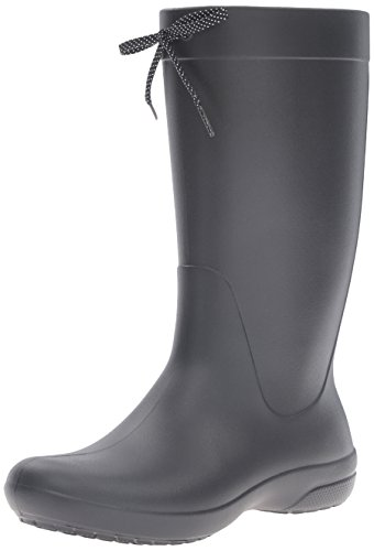 Crocs Freesail Rain Boot Women, Mujer Bota, Negro (Black), 38-39 EU