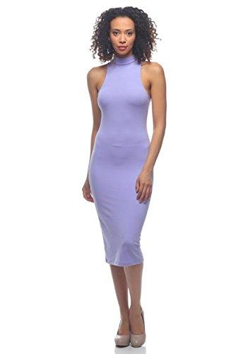2LUV Damen Kleid Gray & White S Gr. S, Lilac (Tween Dressy Kleider)