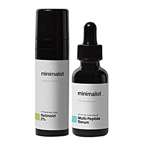 Minimalist Anti Aging Night Cream & Collagen Booster Serum Combo For Wrinkles & Fine Lines   For Men & Women