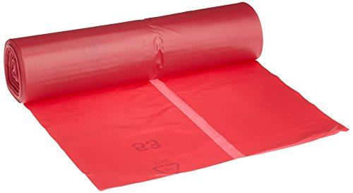 Deiss 11001 - Bolsas de basura (700 x 1100 mm, 25 unidades), color rojo