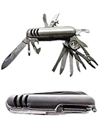JKbK Premium 21 In 1 Grand Harvest Multifunctional Swiss Army Knife With Belt Nylon Pouch