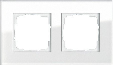 Gira 021212 021212 Rahmen 2-fach Esprit Glas, weiß