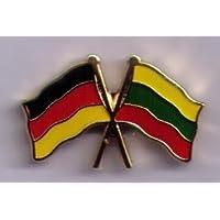 Doppelflaggenpin Deutschland-Litauen Freundschaftspin 23 mm Yantec Pin