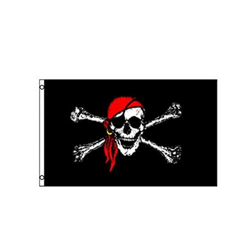 alico Flagge Jolly Roger Schädel Flagge Polyester Für Bar-Hausgarten-Dekor ()
