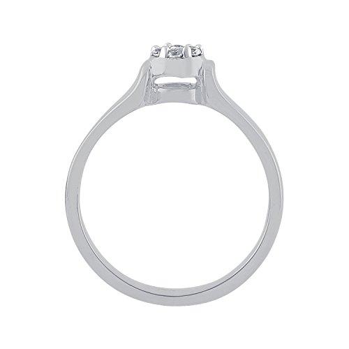 Giantti 14carats Diamant Pendentif Femme Collier (0.2576CT, VS/Si-clarity, Gh-colour)