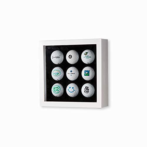 Golfball-Vitrine Weiß für 9 Golfbälle -