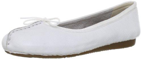 Clarks Freckle Ice 20354455, Ballerine donna, Bianco (Weiß (White Leather)), 37.5