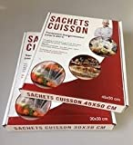 Pellicola di cottura in bustina. Per cuocere e arrostire in Papillote-50pezzi formato 30cmx38cm, nuovo per cucinare come un capo, senza Grassi.