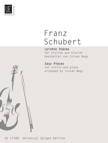 Universal Edition Schubert Franz–Easy Pieces–Violin and Piano Partition clásica cuerdas violín