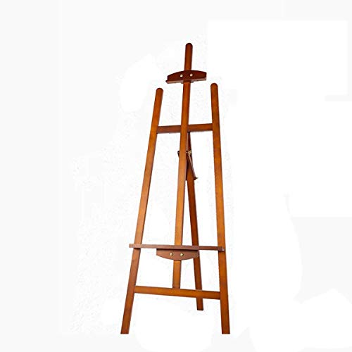 d3e51436ec58 XHHWZB Rear Support Easel, Floor A-Frame Wooden Easel Constructed from  Quality Pine Wood, Holds Canvases up to (104cm) in Height, Folds Easily ...
