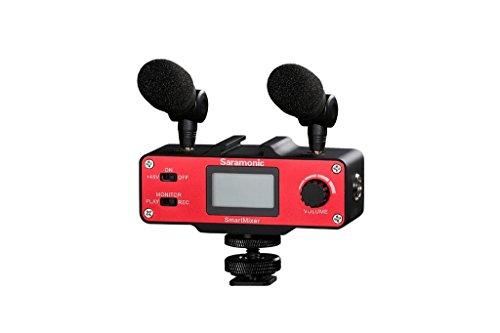 Saramonic SmartMixer Professionelles Mikrofon-Rig zur Stereoaufzeichnung, für iPhone u. Android-Smartphones -