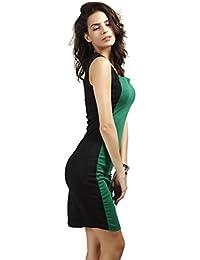 Neighbor Girl falda del lápiz del vestido del color del temperamento atractivo del golpe