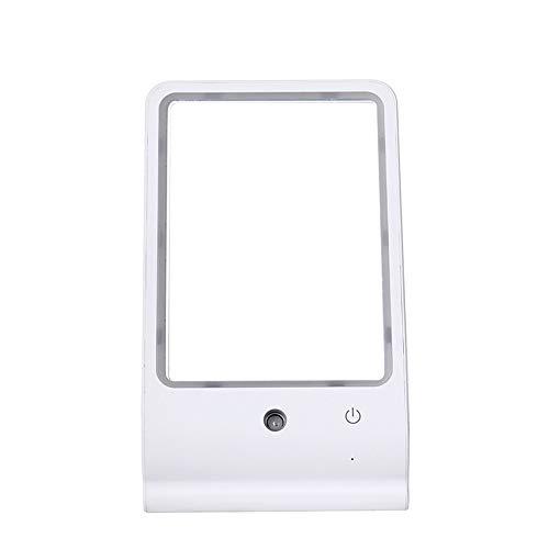 Lampe de table humidificateur LED miroir de maquillage portable hydratant et hydratant lampe miroir cosmétique USB charge Night light girl cadeau,White