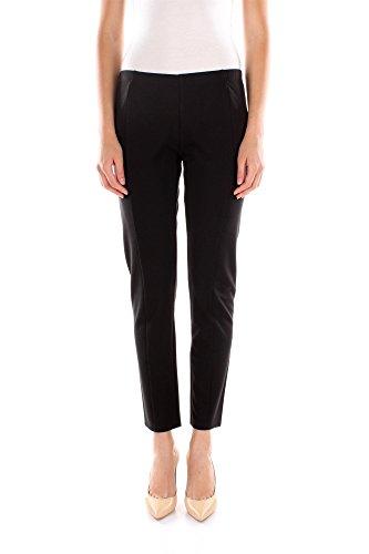 Pantaloni Twin-Set Donna Cotone Nero e Platino IA4NGG00006 Nero M