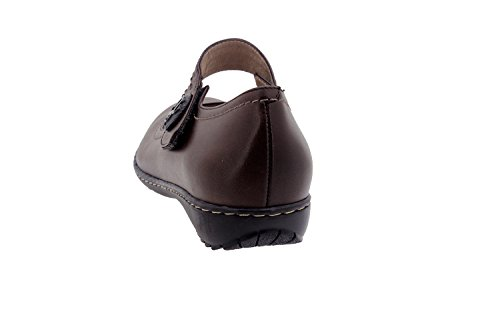 Scarpe donna comfort pelle Piesanto 1705 scarpe bassi casual comfort larghezza speciale Caoba