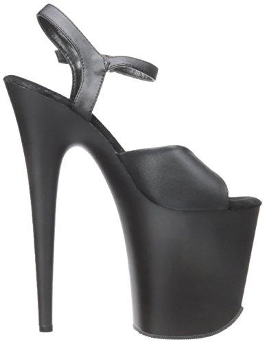 Pleaser - Flamingo-809, Sandali Donna Blk Faux Leather/Blk
