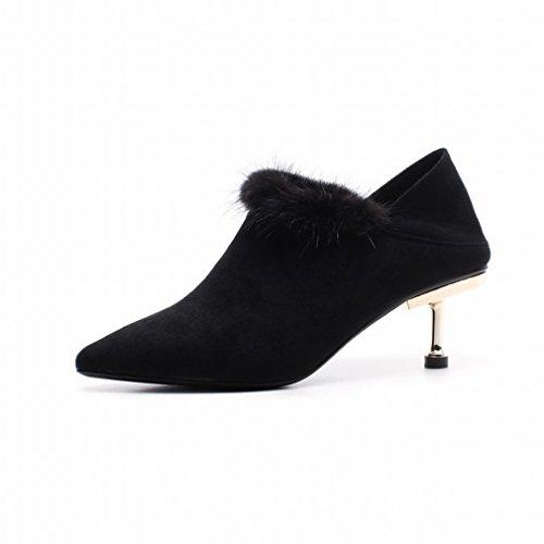 Gli Stivali Invernali da Donna Indossavano Due Stivali Martin con Tacchi Alti Europei e Americani UN