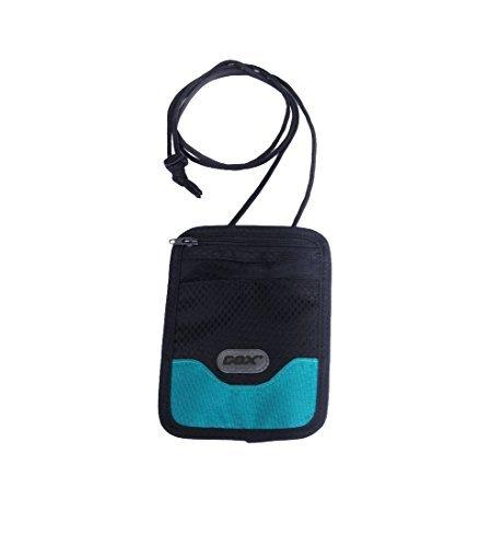 Portadocumenti da collo, GOX Premium 420D Nylon Multi-funzione Impermeabile Portatile Collo Stash Raccoglitore del Sacchetto di Viaggio - Protegge i Vostri Soldi, Carte di Credito e Documenti (Short, Blu)