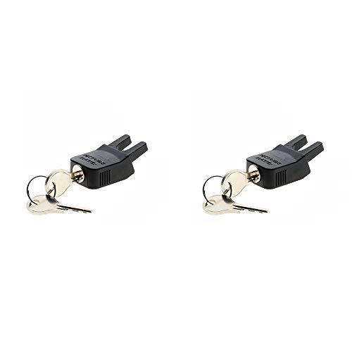 Racktime 17009 Klickfix Schloss \'Secureit\' für System Adapter, schwarz (2er Pack)