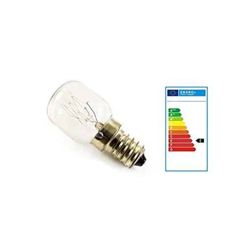 2x Birne Glühbirne Leuchtmittel E14-25 Watt für Salzlampe u. Backofen bis 300° [Energieklasse E]