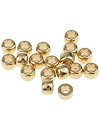 Tradico® 100pcs Brass Spacer Beads Fit Buddha Bead String Charm Bracelet Chain 6mm