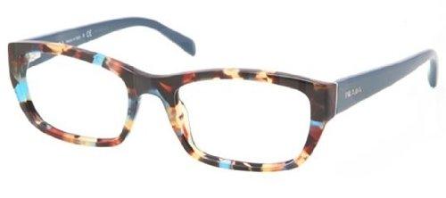 PRADA Eyeglasses PR 18OV NAG1O1 Havana Spotted Blue 54MM