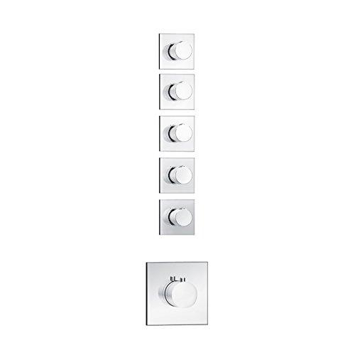 Soho 5 Wege Unterputz Duscharmatur mit Thermostat Fertigmontageset