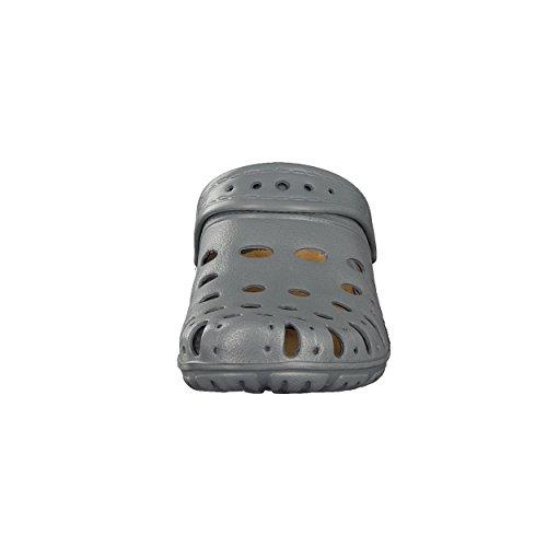 BRANDSSELLER Herren Clog Hausschuh Gartenschuh Pantoffel - Uni mit Innensohle - Farben: Grau,Navy, Schwarz - Größen: 36-41 Grau