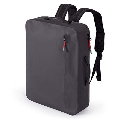 """A-LAB • Model E • Wasserdichter Fahrradrucksack • Schultertasche • Kurierrucksack aus robuster LKW Plane (17l) mit hochwertigem Laptopfach für 15\"""" • Tagesrucksack in schwarz • Designed in Berlin"""