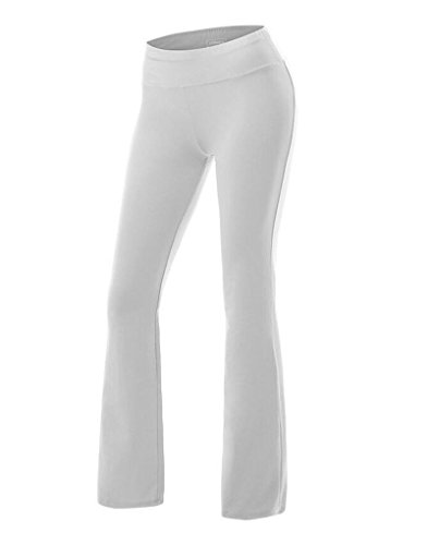 ZKOO Femmes Pantalon De Yoga Jogging Sport Elastique Extensible Large Long Pour Fitness M