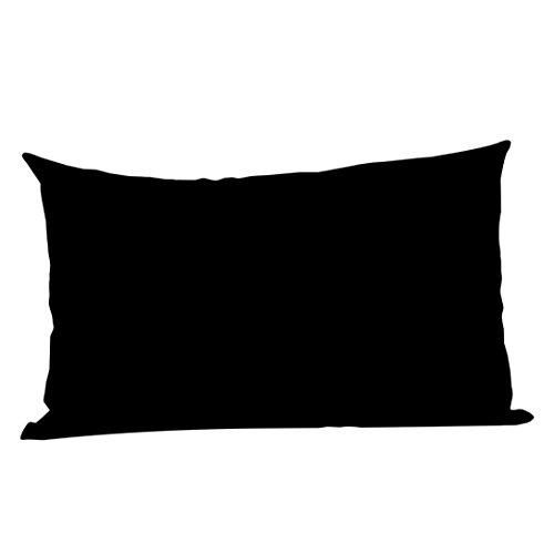 Mamum Housses De Coussin Rectangulaire 50 * 70 Cm Taie d'oreiller DéCorative Coton Lin Couverture De Coussin Pillowcase Enfant Adulte Chambre Canapé Salon Maison Sofa Fauteuil Lit (Noir)
