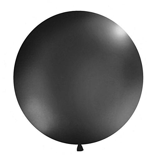 Simplydeko XXL Ballon 100cm | Riesenballon-Deko für Party, Garten und Hochzeit | Luftballons (Schwarz)