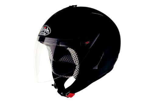 Airoh Open Face Casco, Nero Opaco, XL