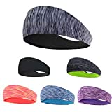 LATTCURE Sport Stirnband, Stirnband 3 Pack, Schweißband, Stirnband Anti Rutsch, für Jogging, Laufen, Wandern, Fahrrad- und Motorrad Fahren