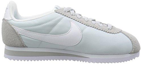 Nike Wmns Classic Cortez Nylon, Chaussures de Running Entrainement Femme Blanc Cassé (Pure Platinum/white)