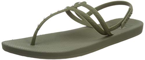 Reef Escape Lux T Stud, Infradito Donna, Verde (Forest for), 37.5 EU