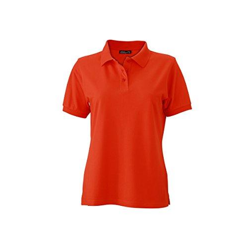 JAMES & NICHOLSON -  Polo  - Basic - Con bottoni  - Maniche corte  - Donna orange grenadine