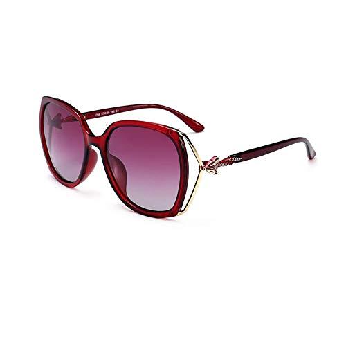 JFFFFWI Polarisierte Sonnenbrille UV-Schutz Blendfrei Streulicht eliminieren Unisex Für Jede Gesichtsform geeignet (Farbe: Rot)