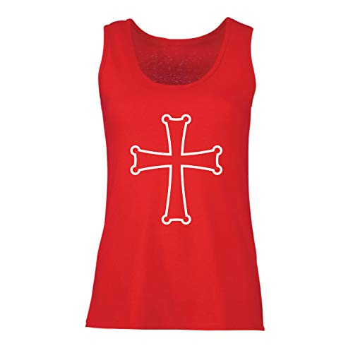 lepni.me Damen Tank-Top Tempel des Ordens von Salomo - Das Rote Kreuz der Tempelritter (Medium Rot (Beste Original Paare Kostüme)