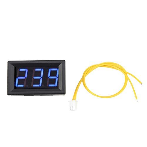 LED Voltmetro digitale AC 70-380 V Volt Misuratore di batteria Tester Monitor di tensione per auto/Auto Golf Cart Moto 0,56'(Blue)