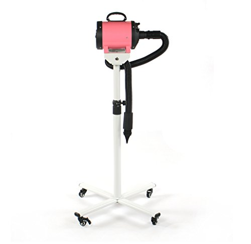 Pedigroom Pet Fur Dryer Blaster With Stand Dog Grooming Pink Portable Mobile 3