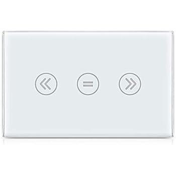 Interruttore touchscreen Smart US WiFi Google Home N filo Needed Alexa Echo app controllabile da remoto adatta per il controllo dei motori a tapparelle comandi vocali tramite Siri