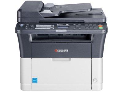 1102M73NL0 - Drucken und Kopieren mit bis zu 25 Seiten A4 pro Minute, Scan to E-Mail, Scan to PC, 1.200 dpi Druckqualität/ 250-Blatt-Papierkassette, USB- u. Netzwerkschnittstelle, Inklusive Faxfunktion und ADF (40 Blatt)/ Duplex-Einheit. FS-1325MFP -
