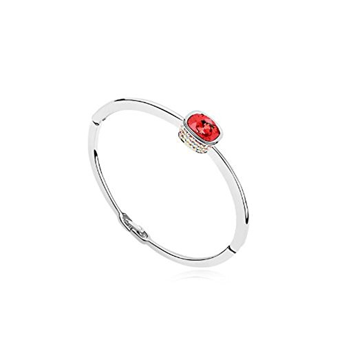 Pulsera de cristal Swarovski Element color - rojo rubí