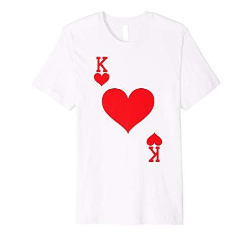 Grey Bekleidung Für Erwachsene Tee (König der Herzen-Spielkarte Halloween-Kostüm T-Shirt)